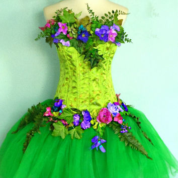 ADULT FAIRY COSTUME  - The Woodland Fairy - Earth Faerie - Mother Nature- corset top bust size 38