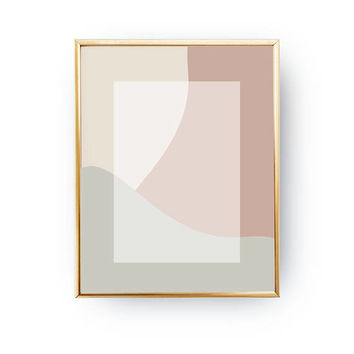 Pink Pastel Design, Minimalist Poster, Textured Wall Art, Abstract Shapes, Simple Decor, Mid Century Decor, White Rectangle, Pastel Decor