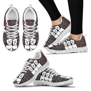 Havanese Dog Print Christmas Running Shoes For Women-Free Shipping
