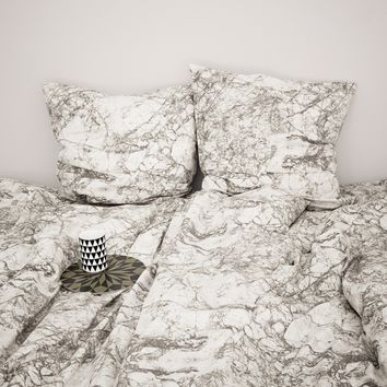 Marble Bedding Duvet - Grey