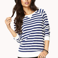 Overboard Striped Raglan Top