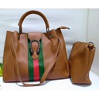 GUCCI Woman Men Fashion Leather Tote Crossbody Shoulder Bag Satchel