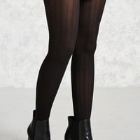 Striped Semi-Sheer Tights