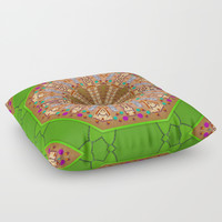 sweet crackers with chocolate mandala Floor Pillow by Pepita Selles