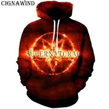 New hot TV movie Supernatural Hoodies all over printed hoodie men women sweatshirt long sleeve hoody casual streetwear hooded