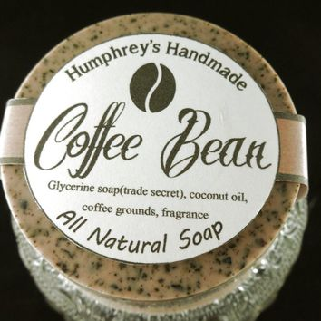 COFFEE BEAN Exfoliating Soap | Coffee Grounds Soap | Coffee Scent | Mechanics  or Gardeners Puck