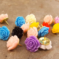 Pushpins Decorative Push Pins Rose Flower Tacks