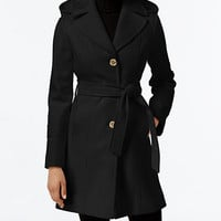 MICHAEL Michael Kors Wool-Blend Hooded Coat, Only at Macy's | macys.com