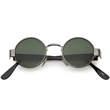 European True Vintage Round Spectacle Dapper Sunglasses C637