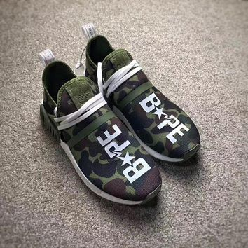 PEAPES5 Adidas NMD Camo Green BAPE Custom Edition