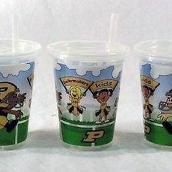 Purdue Boilermakers NCAA 10oz Sip n Go Plastic Cups (Set of 3) BPA Free