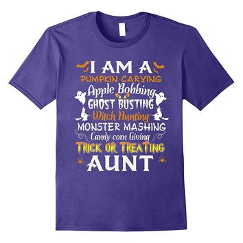 Quote Funny Halloween Trick Or Treating Aunt Shirt
