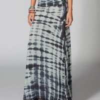 Billabong Midway Luv Convertible Maxi Skirt Charcoal  In Sizes