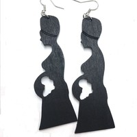 African Mother Wood Earrings
