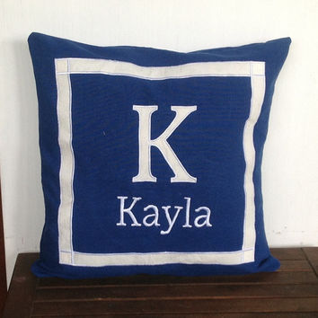 Love gift ideas for her, Letter Pillows, Unique love gift, Initial Monogrammed pillowcases, Decorative Letter Throw Pillows