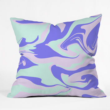 Wesley Bird Hypnotic Camo Throw Pillow