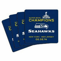NFL 2014 Super Bowl XLVIII Champion Neoprene Coaster (4-Pack)