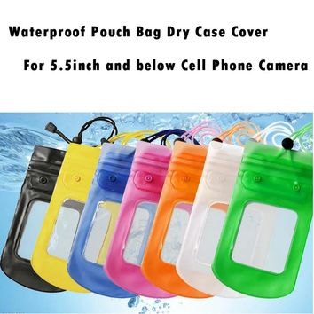 Mosunx 2017 Waterproof Pouch Bag Dry Cover for 5.5 inch below Mobile Phone Case Camera Bag ing