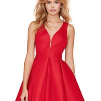 Red Sleeveless Mini Dress