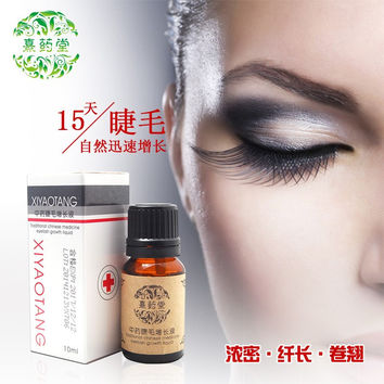 2 bottles Liquid eye Eyelash hair growth hair thickening fiber hair care long hair, eyelashes grow longer Cream.freeshipping