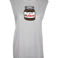 Nutella Muscle Tee tshirt top chocolate Spread Festival Mussle Tee | eBay
