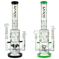 "19"" Double Bowl Arms + 6 Arm Double Cross Percs + Faberge Egg + Heart Filter Disc + Faberge Egg + Ice Catcher + Color. Lookah Water Pipe"