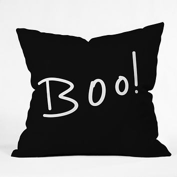 Lisa Argyropoulos Halloween Boo Throw Pillow