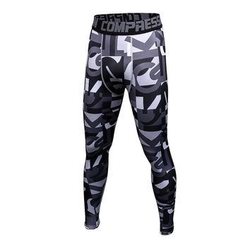 Wade Sea 2018 Men Compression Sports Pants Running Tights Dry Fit Base Layer Fitness GYM MMA Wear Bodybuilding Skinny Leggings