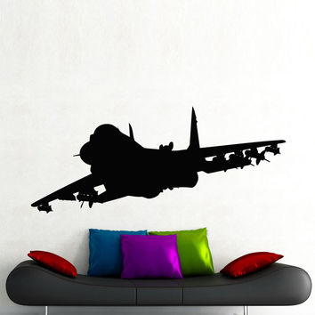 Jet Airplane Wall Stickers Home Decor