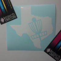 Disc Golf Texas Vinyl Decal
