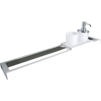 ID Towel Bar With Tumbler and Soap Dispenser  Holder Hanger Bath Towel Rack