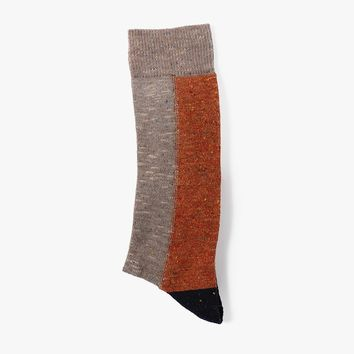 Color Block Slub Sock