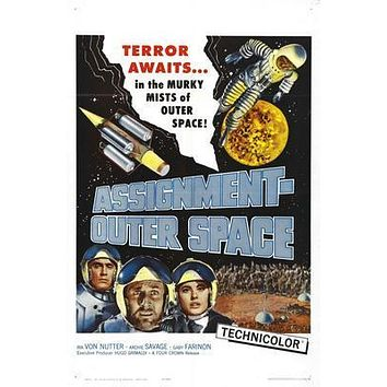 Assignment Outer Space Movie poster Metal Sign Wall Art 8in x 12in