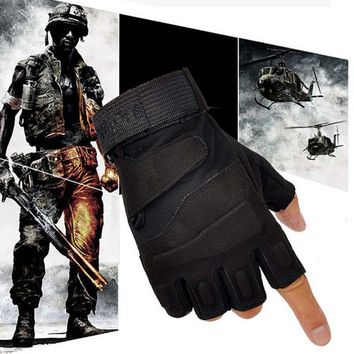 Brand New Outdoor Sports Fingerless Military Tactical Hunting Riding Gloves