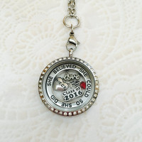 Niece She believed she could so she did class of 2016  stainless steel memory locket with choice of stainless steel chain