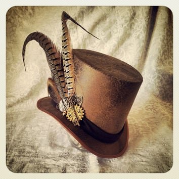 Top Hat - Steampunk, Sherlock Holmes, Clockwork, Time Traveller, Mad Hatter, Adventurer, Explorer, Victorian, Edwardian, Carnival, Festival