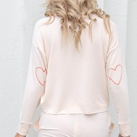 Good To Know Peach Heart Top