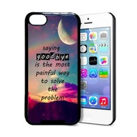 Saying Goodbye Hipster Quote Mystic Moon Background iPhone 5c Case - Fits iPhone 5c