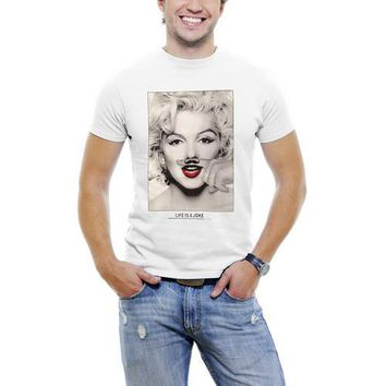 Marilyn Monroe Finger Mustache T-shirt For Men