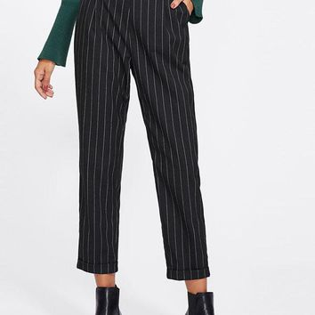 Pinstripe Peg Pants