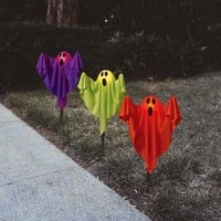 Halloween Ghost Lighted Pathway Markers, 3Pk Halloween Decoration