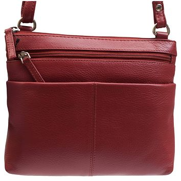 Womens Premium Leather Luxury Crossbody Shoulder Handbag Purse for Ladies