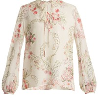 Lily Of The Valley-print silk-georgette blouse | Giambattista Valli | MATCHESFASHION.COM UK