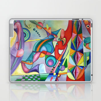 A LOT Abstract Expressionism Acrylic Painting Laptop & iPad Skin by Heaven7