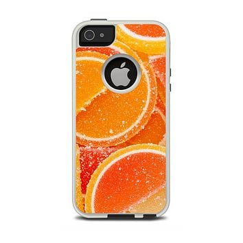 The Orange Candy Slices Apple iPhone 5-5s Otterbox Commuter Case Skin Set