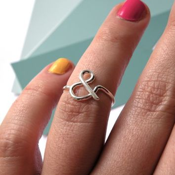Supermarket: You & Me - Ampersand ring from Melanie Favreau