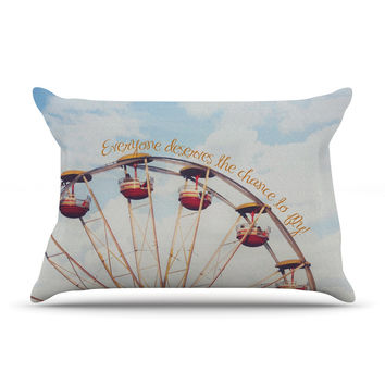"""Beth Engel """"The Chance To Fly"""" Ferris Wheel Pillow Case"""