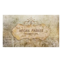 Chic Brown Distressed Grunge Business Card