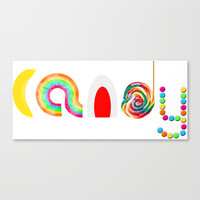 Candy Canvas Print by Moonshine Paradise