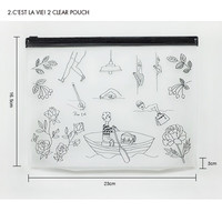 Clear Zip lock pouch / cosmetic pouch / pencil case
